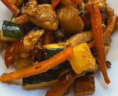 Mix de pollo con verduras